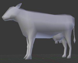 3dsmax cow