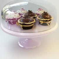 3d cupcake 034 model