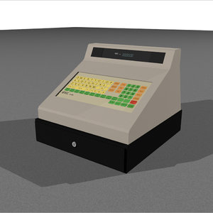 3d cash register drawer model