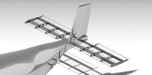 horizontal naca 0012 3d model