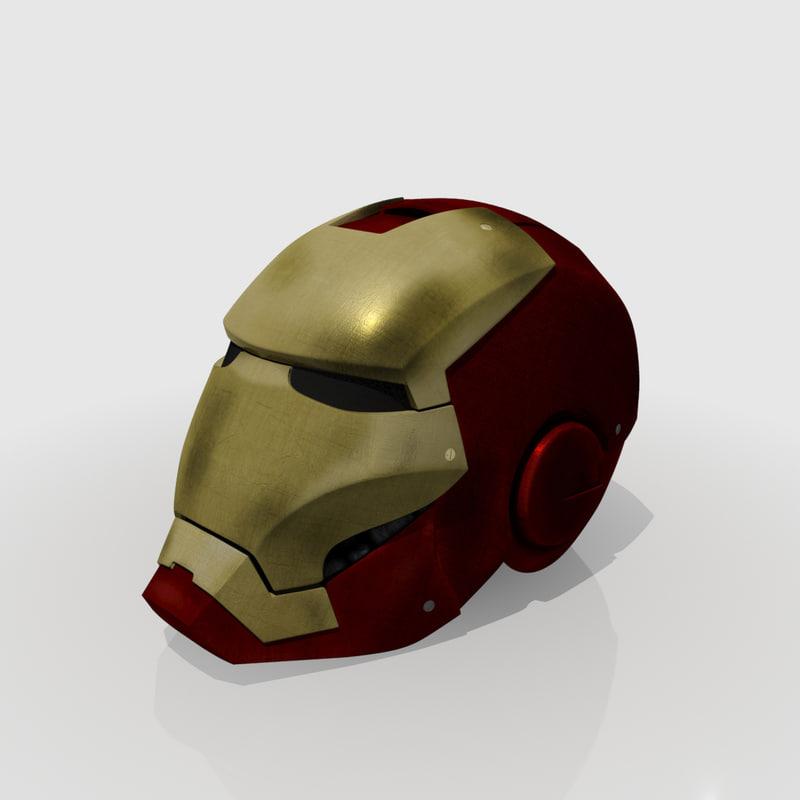 iron man helmet 3d max