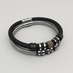 3d model of bracelet man