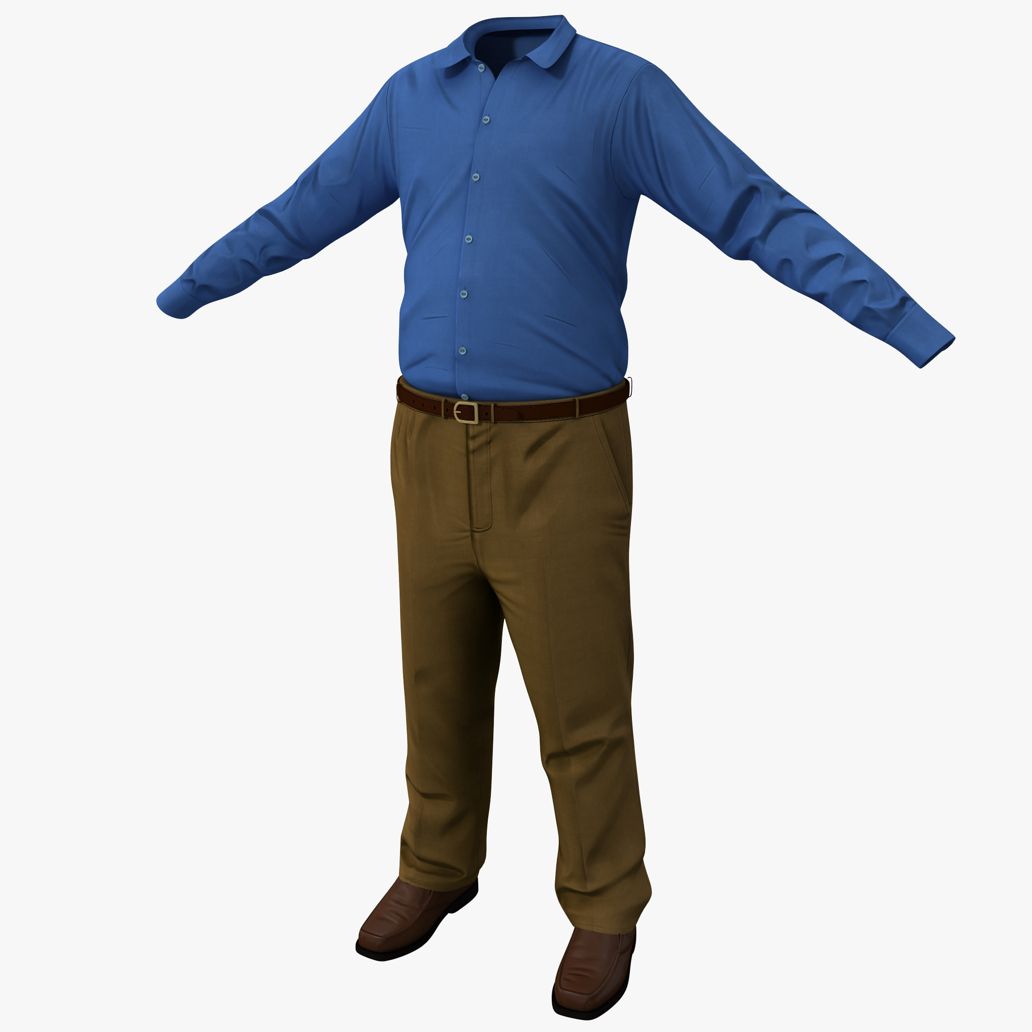 3ds max male casual clothes 8