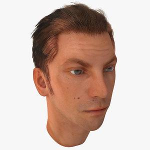 3d male head 18 version