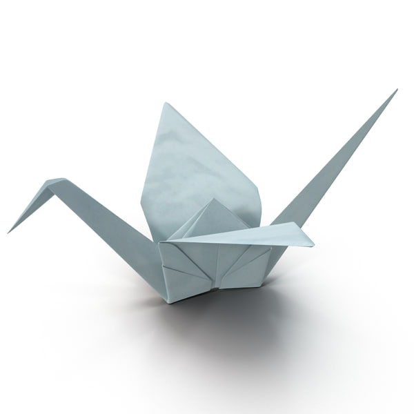 3D Origami crane - Download Free 3D model by JuanG3D (@juang3d ... | 600x600