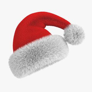 3ds santas hat