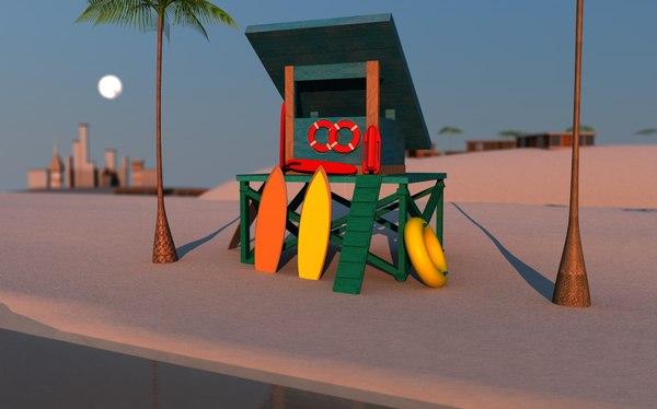 3d model lifeguard gear