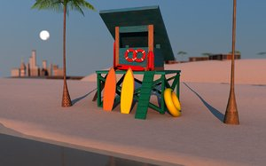 3d model lifeguard gear