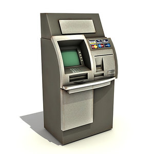 3ds max automatic teller machine
