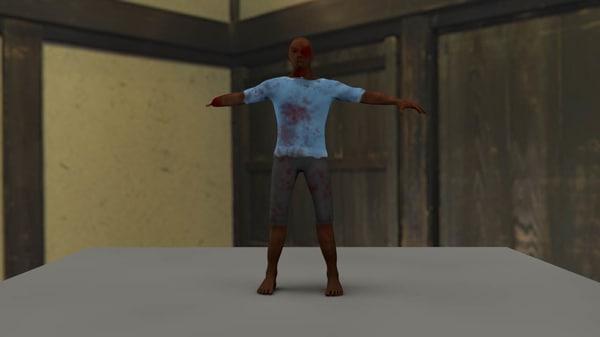 3ds max zombie