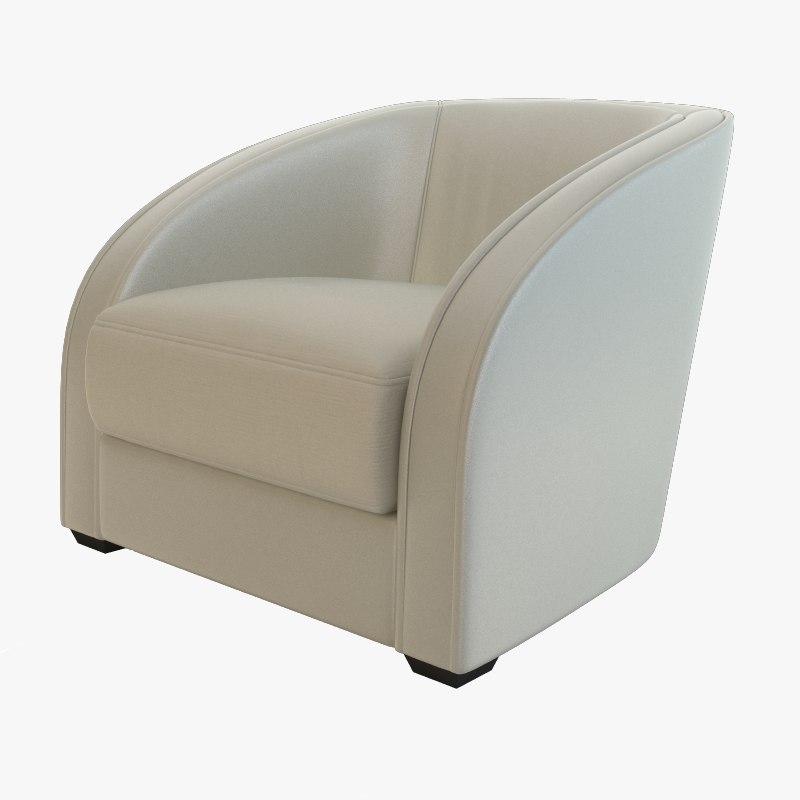 opera contemporary armchair 3d model