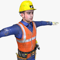 3d model worker tools ready