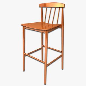 bar stool 3d max