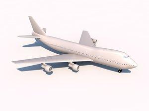 3d model of boeing 747-400