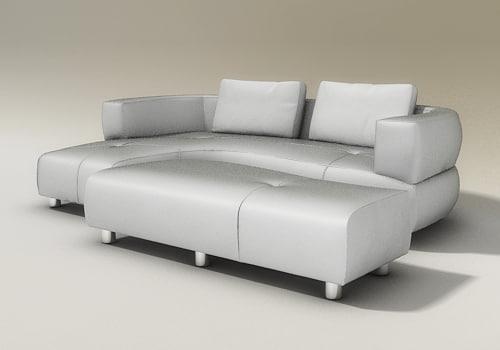 river sofa 3d max