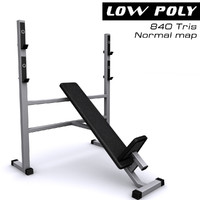 3d max athletic bench gym