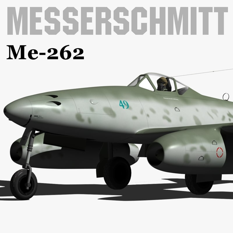 messerschmitt me-262 3d model
