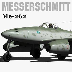 messerschmitt me-262 3d model