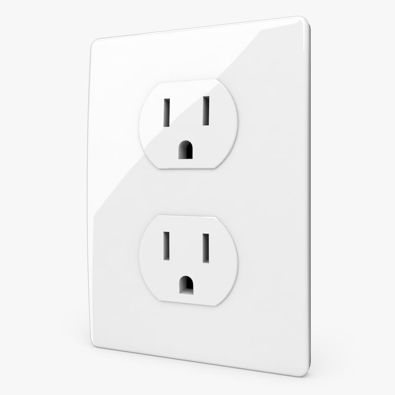 3ds max socket outlet wall