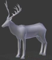 deer blender 3d model