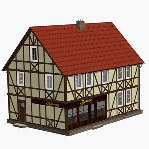 3d model fachwerk