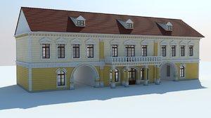 3d classic villa