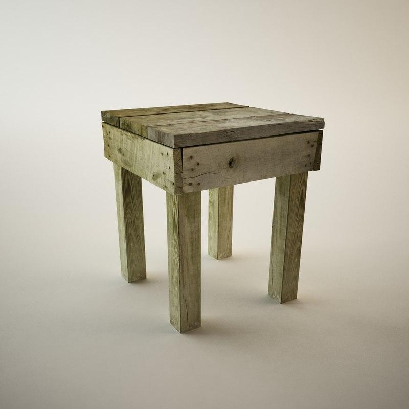 antique table 3d 3ds