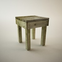 antique table 3d 3ds