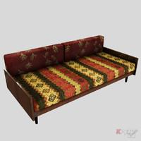 sofa retro 3d model