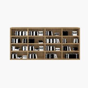 library books 3d model