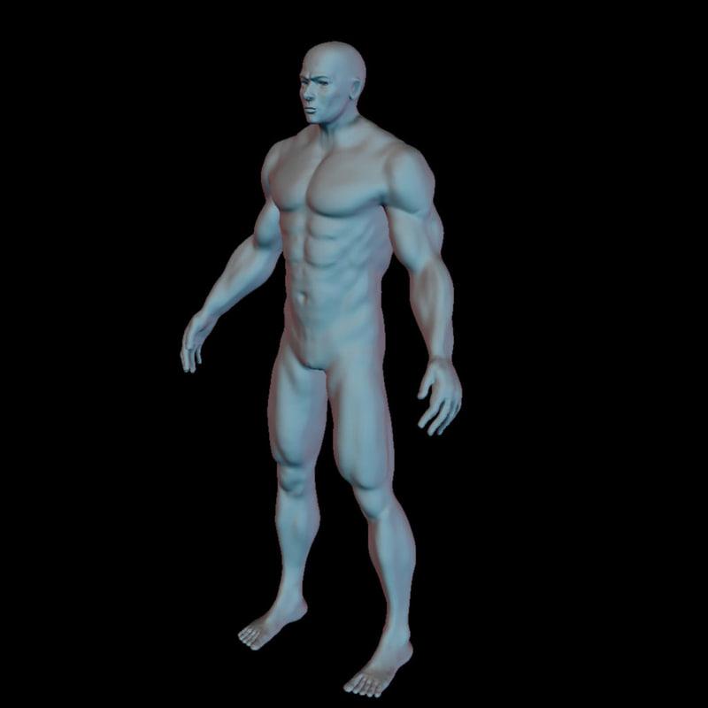human man character 3d model