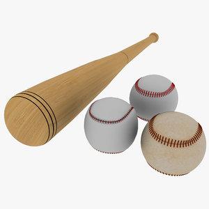 baseball bat balls 3d max