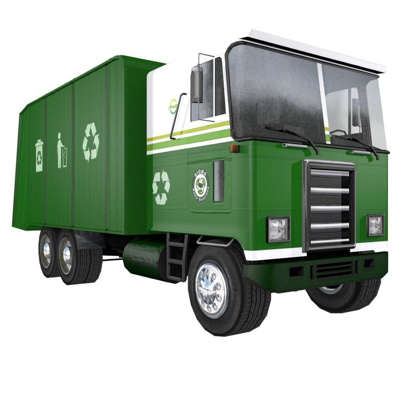 3ds max garbage truck