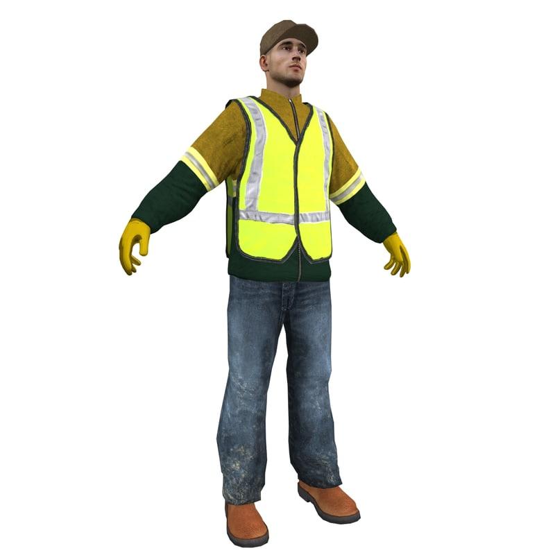 3dsmax worker man
