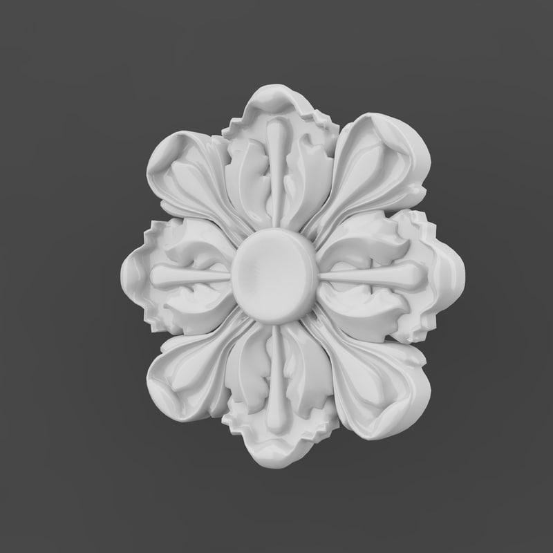 free rosette 3d model