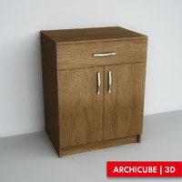 drawer chest 3d max
