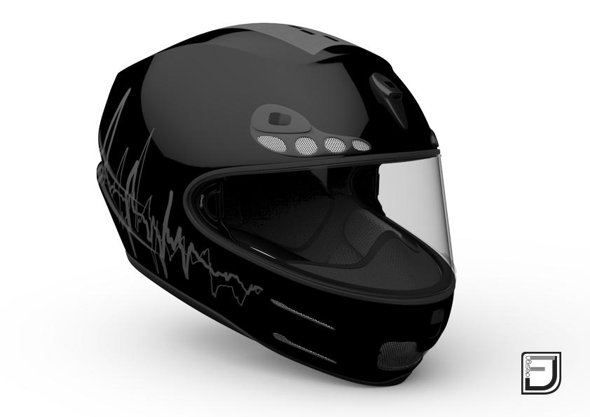 black racing helmet 3ds