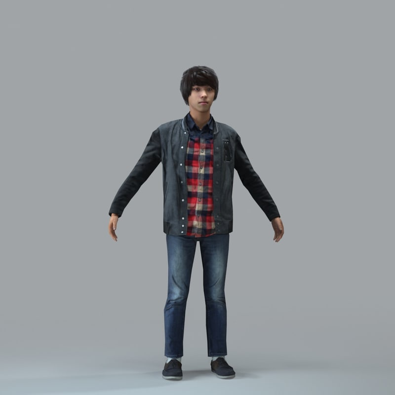 axyz body rigged 3d model