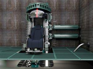 3d model laboratory chair scifi
