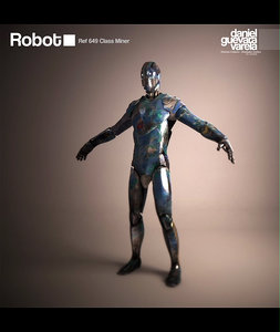 miner robot 3d model
