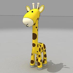 3d giraffe cartoon baby model