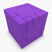 max realistic happy cube purple