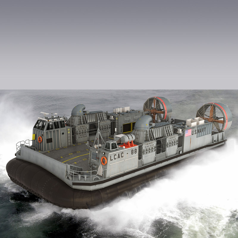 3d model navy lcac