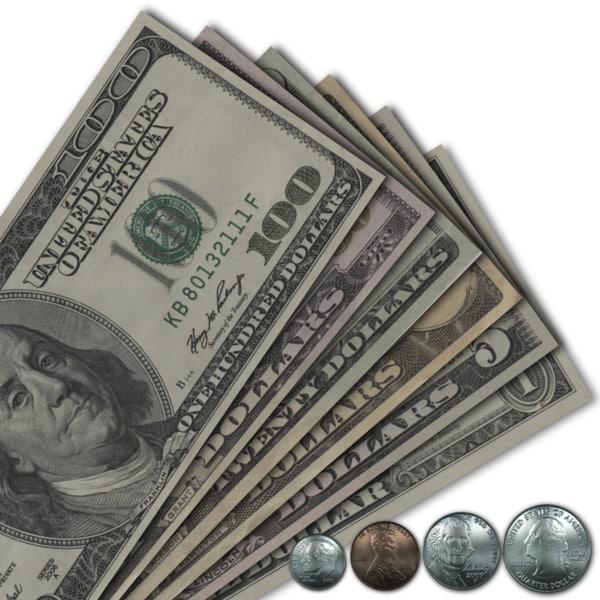 american money 3d model