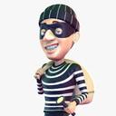 robber 3D models