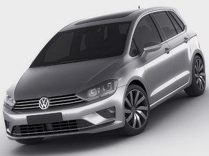 3d model of golf sportsvan sport