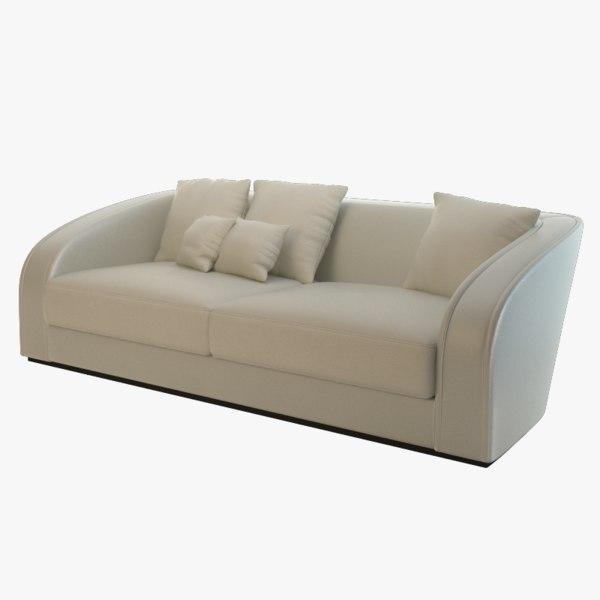 3d model of opera contemporary sofa