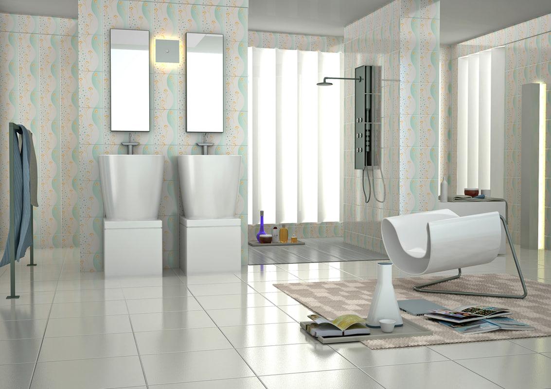 3ds max bathroom scene