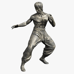 3d bruce lee statue model