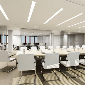 3d max conference room interior
